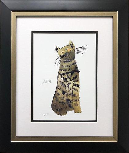 "Andy Warhol "" Green Sam"" 1954 CUSTOM FRAMED Pop Art"