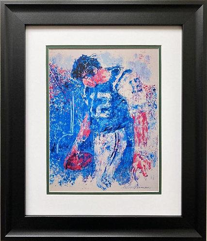 "LeRoy Neiman ""Joe Namath"" FRAMED New Art Print"