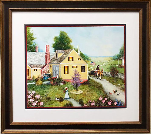 "Linda Nelson Stocks ""Pink Roses"" FRAMED Art"