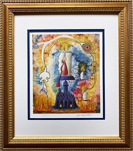 "Rothenberg ""A Light for All"" FRAMED Signed Judaic Art"