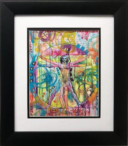 """Dean Russo """"Vitruvian Man"""" CUSTOM FRAMED Pop Art"""