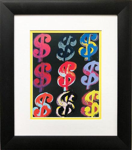 "Andy Warhol ""$9"" CUSTOM FRAMED Pop Art Lithograph"