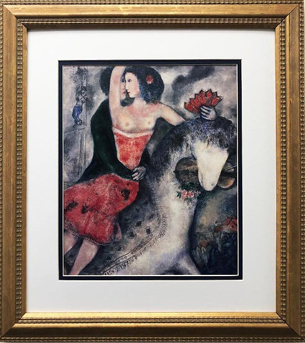 "Marc Chagall ""The Circus Rider"" New CUSTOM FRAMED Art Rare Poster"