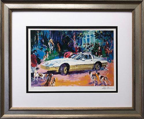 """LeRoy Neiman """"Rendezvous a la Corvette"""""""