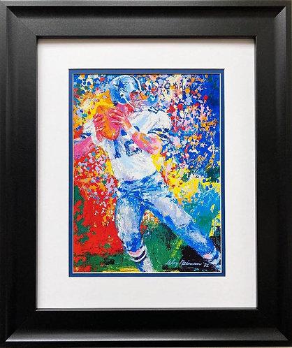 """LeRoy Neiman """"Roger Staubach"""" FRAMED New Art"""