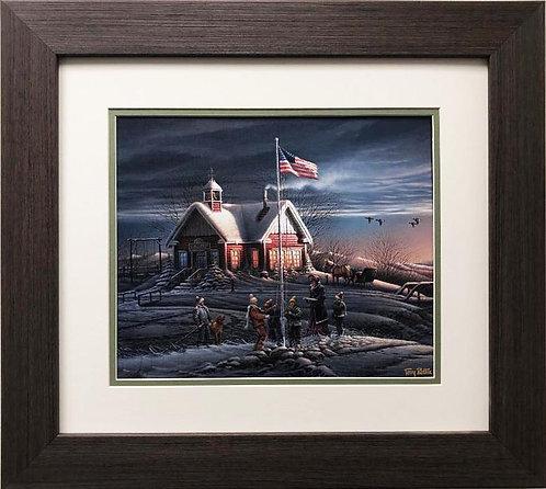 """Terry Redlin """"America! America! """" CUSTOM FRAMED  Art"""