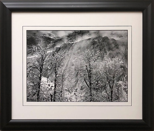 "Ansel Adams ""Trees and Cliffs of Eagle Peak"" Custom Framed NEW ART photography"