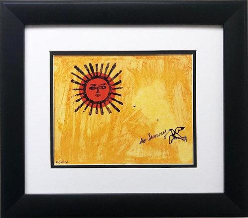 "Andy Warhol ""So Sunny"" 1958 CUSTOM FRAMED Pop Art Litho"