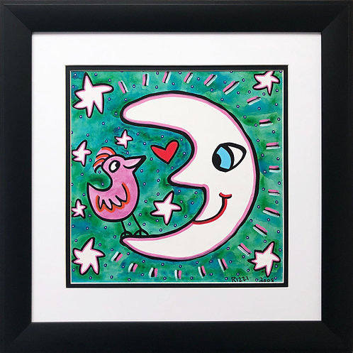 "James Rizzi ""The Moon Can Think Pink"""