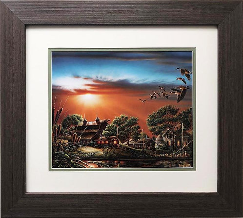 "Terry Redlin ""Lazy Afternoon"" FRAMED  Art"