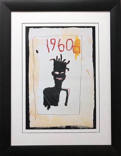 "Jean Michel Basquiat ""Impression- Sunrise"" CUSTOM FRAMED Pop Art"