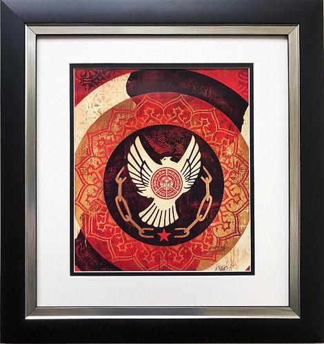"Shepard Fairey ""Peace and Freedom Dove"" CUSTOM FRAMED Art Print"