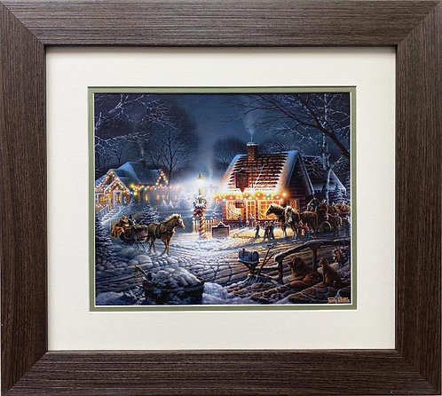 "Terry Redlin ""Sweet Memories"" CUSTOM FRAMED Rural America Art Print"
