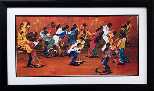 "Annie Lee ""Dance Marathon"" NEW Custom FRAMED African American ART"