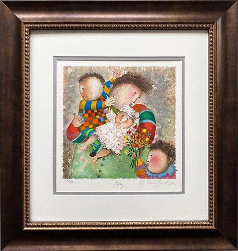 """G.R. Boulanger """"May"""" Signed & # FRAMED ART"""