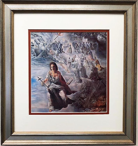 "Salvador Dali ""The Ecumenical Council"" (detail) FRAMED ART"