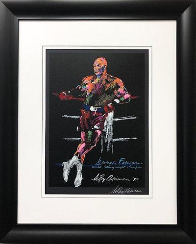 "LeRoy Neiman ""George Foreman- World Heavyweight Champion"" Framed Boxing Art"
