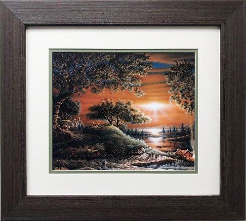 "Terry Redlin ""Puppy Love"" FRAMED Rural America Art Print"