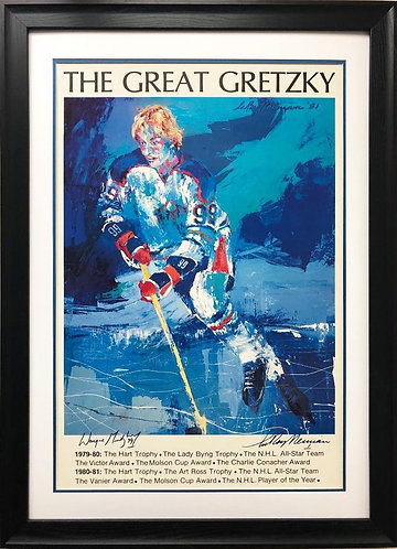 """LeRoy Neiman """"The Great Gretzky"""" Hand Signed NEW FRAMED"""