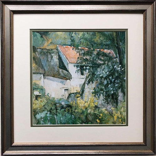 "Paul Cezanne ""The House of Pere Lacroix in Auvers"" 1873 Custom Framed Art Print"