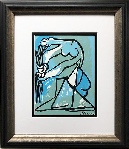 "Pablo Picasso ""Nude Bather"" CUSTOM FRAMED Serigraph"