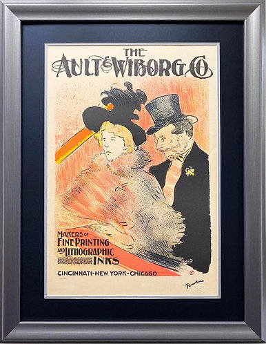 "Toulouse-Lautrec ""Ault Wilborg"" Framed Art Limited Edition French Poster"