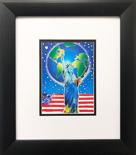 "Peter Max ""Peace on Earth"" NEW CUSTOM FRAME Print Pop Art Psychedelic Neo"