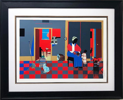"Romare Bearden ""Early Carolina Morning"" FRAMED African American Estate Art"