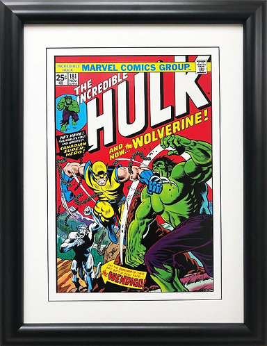 "Marvel ""The Incredible Hulk"" #181 With Wolverine Framed Comic Book Poster"