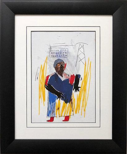 "Jean Michel Basquiat ""Abuelita"" 1981 FRAMED Pop Art"
