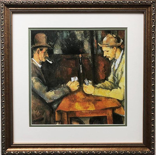 "Paul Cezanne ""The Card Players"" 1893 Custom Framed Art Print"