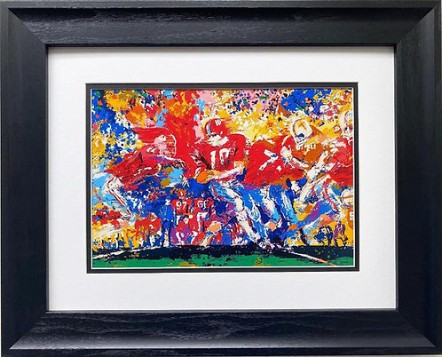 """Alabama Handoff '74 '"" LeRoy Neiman NEW Framed Art Crimson Tide Football (Med)"