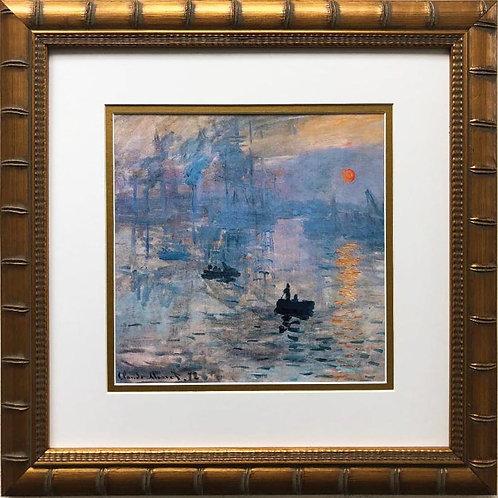 "Claude Monet ""Impression, Sunrise"" 1872 Custom Framed Art Print"