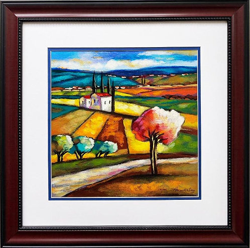 "Slava Brodinsky ""Season of Harvest"" Framed Hand Signed & # Serigraph Art"