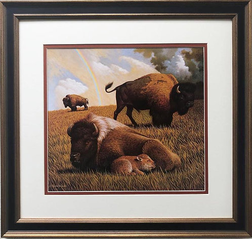 "Charles Wysocki ""Symbols of the American West"" FRAMED Art"