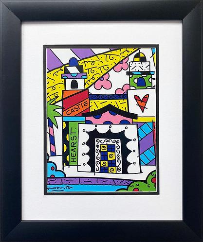 "Romero Britto ""Hearst Castle"" CUSTOM FRAMED Pop Art"