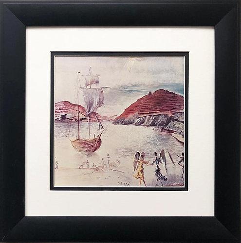 "Salvador Dali ""Title Unknownn, 1950"" FRAMED ART"