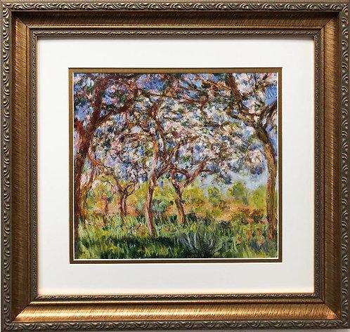 "Claude Monet ""Spring in Giverny"" CUSTOM FRAMED Art"