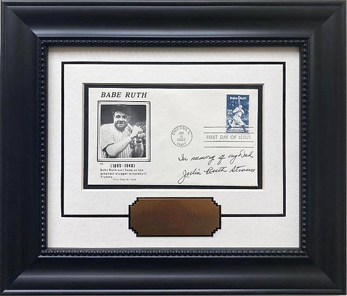"""Babe Ruth"" 1st Day Issue Stamp Cover Baseball Lmtd Edition Framed Art"