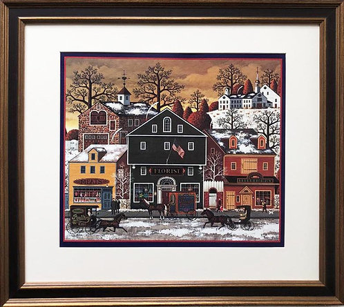 "Charles Wysocki ""Meat, Flower, Hat"" New FRAMED Art"
