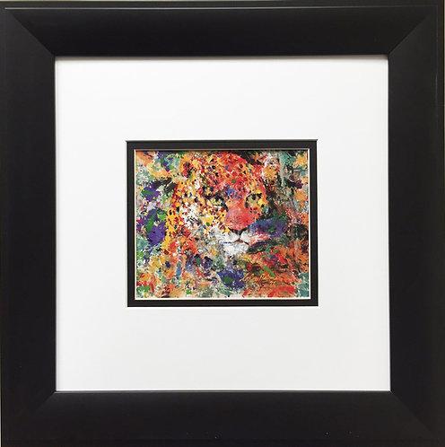 "LeRoy Neiman ""Portrait of a Leopard"" - Newly CUSTOM FRAMED Art Print - ANIMALS"