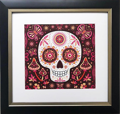 "Thaneeya McArdle ""Sage"" Sugar Skull FRAMED Art"