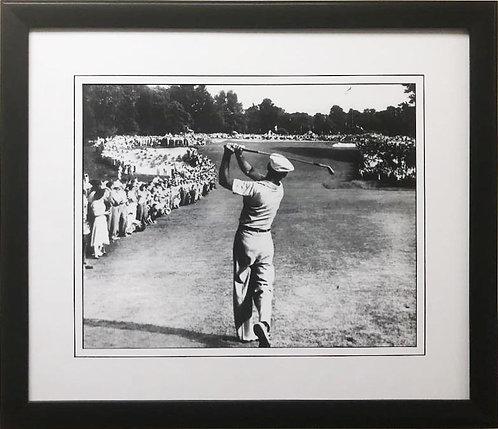 "Golf "" Ben Hogan 1 Iron at Merion"" 1950 Custom Framed Art"