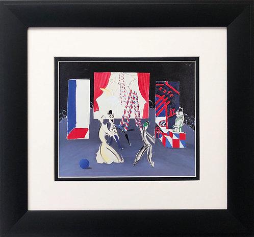 "David Hockney ""Parade with Unfinished Backdrop"""