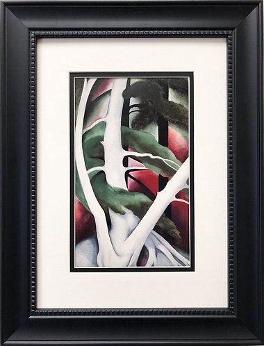 "Georgia O'Keeffe ""Birch and Pine Tree #2"""