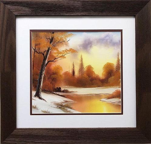 """Bob Ross """"Quiet Winter"""" CUSTOM FRAMED ART"""
