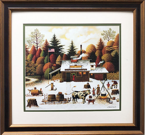 "Charles Wysocki ""Vermont Rock Maple Tree Tappers"""
