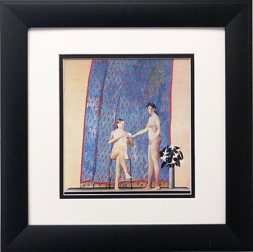 "David Hockney ""Seated Woman Drinking Tea"""
