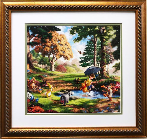 Thomas Kinkade WINNIE THE POOH FRAMED Art