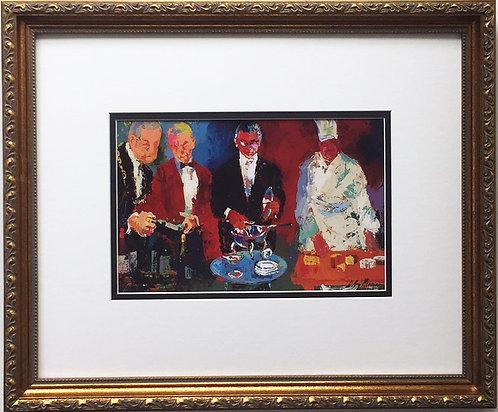 "LeRoy Neiman ""Pour Vous"" Custom FRAMED Art print - Culinary, Chef, Cuisine, Wine"